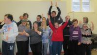 Members celebrate Lottery funding